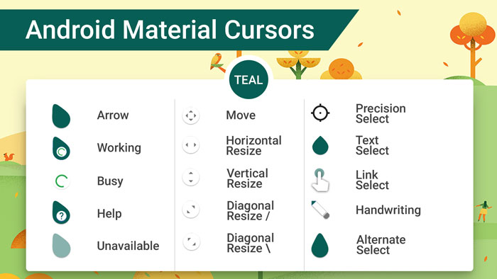 android-material-cursors